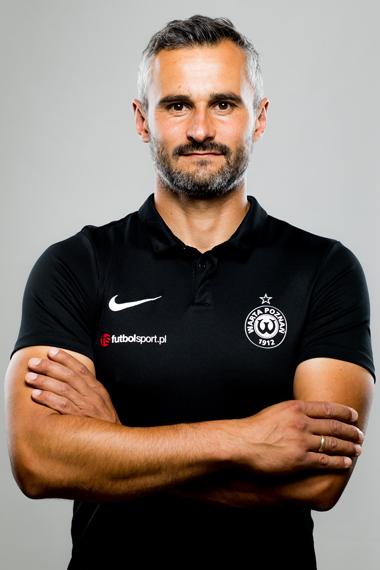 Trener bramkarzy Warty Poznań Dominik Kubiak