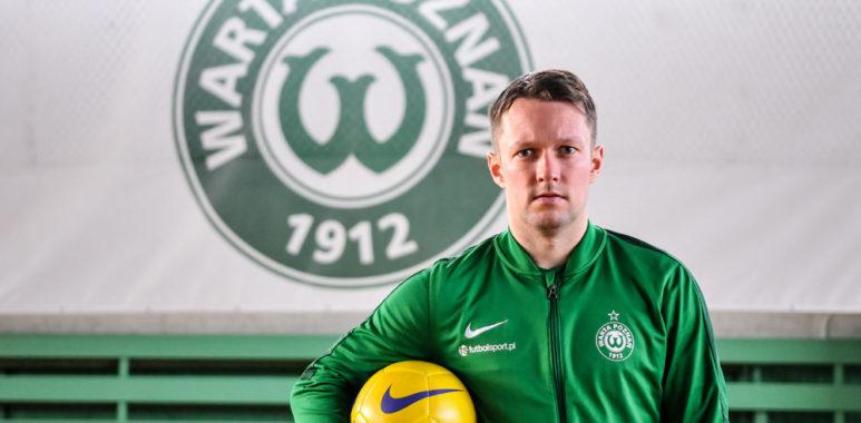 Sebastian Kamiński na treningach Warty Poznań