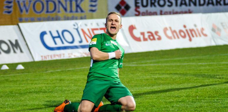 Robert Janicki (Warta Poznań) w meczu z Chojniczanką Chojnice