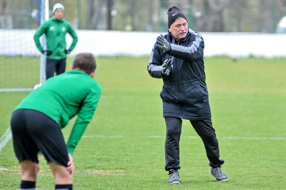 Trening Warty Poznań przed meczem z Rakowem Częstochowa. Trener Petr Nemec