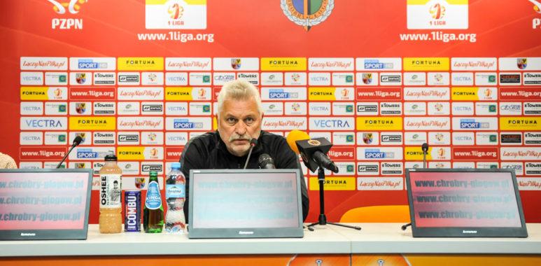Petr Nemec (trener Warty Poznań) po meczu z Chrobrym Głogów