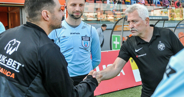Bruk-Bet Termalica Nieciecza - Warta Poznań 1:0. Trenerzy Petr Nemec i Marcin Kaczmarek