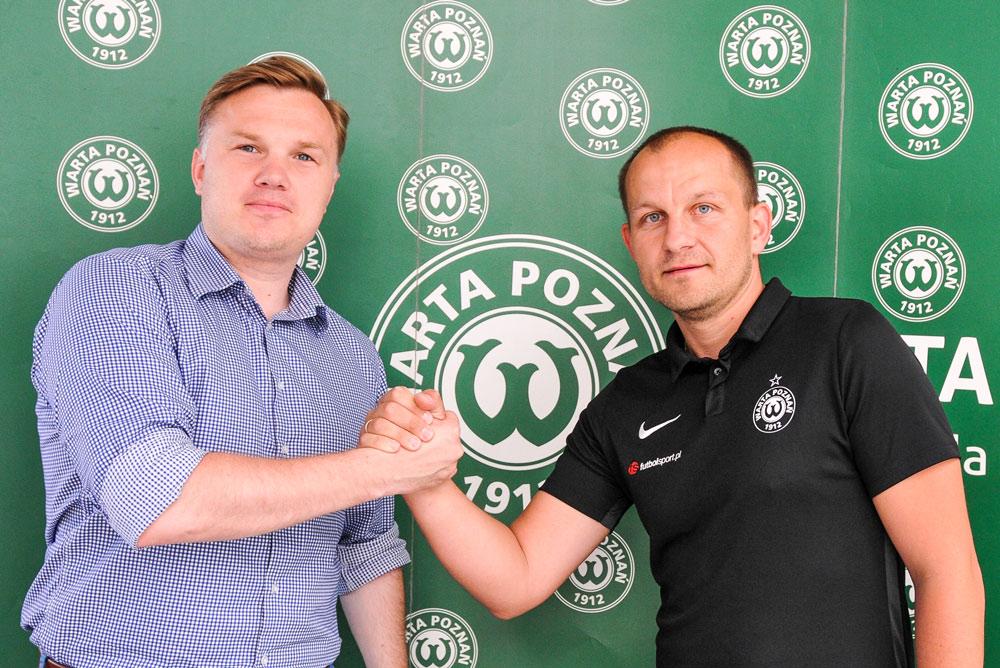 Dyrektor akademii Warty Poznań Wojciech Tomaszewski i dyrektor sportowy Warty Poznań Robert Graf (z lewej)