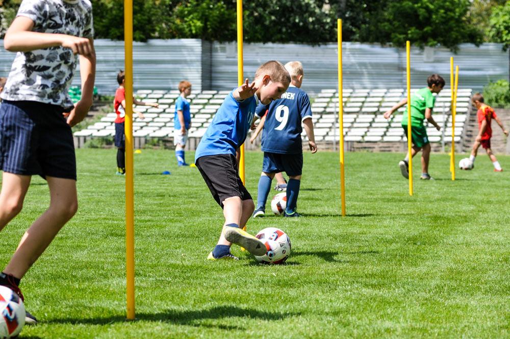 Trening dla dzieci na stadionie Warty Poznań