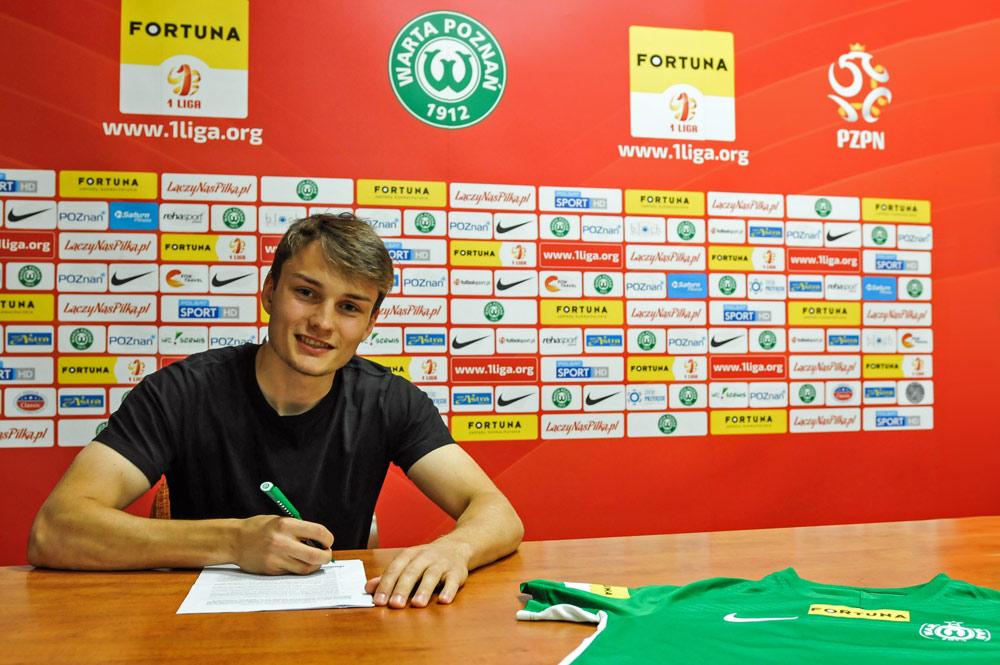 Karol Gardzielewicz podpisał roczny kontrakt z Wartą Poznań
