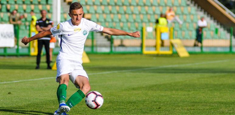 Wiktor Długosz (Warta Poznań) w meczu z GKS Bełchatów