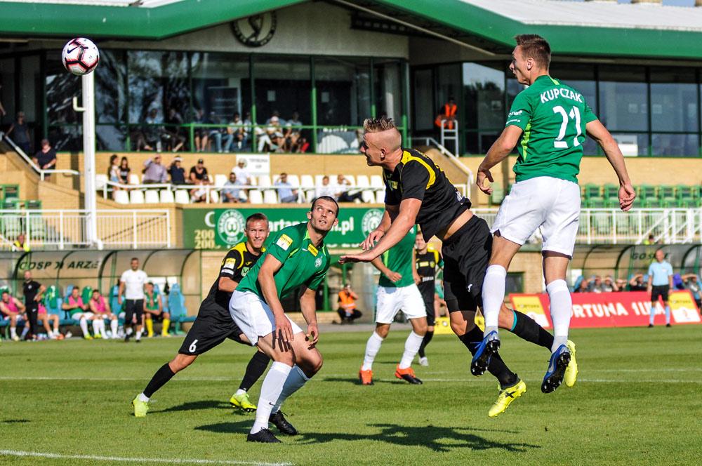 Warta Poznań - GKS Jastrzębie 1:1. Tomasz Boczek. Strzela Mateusz Kupczak