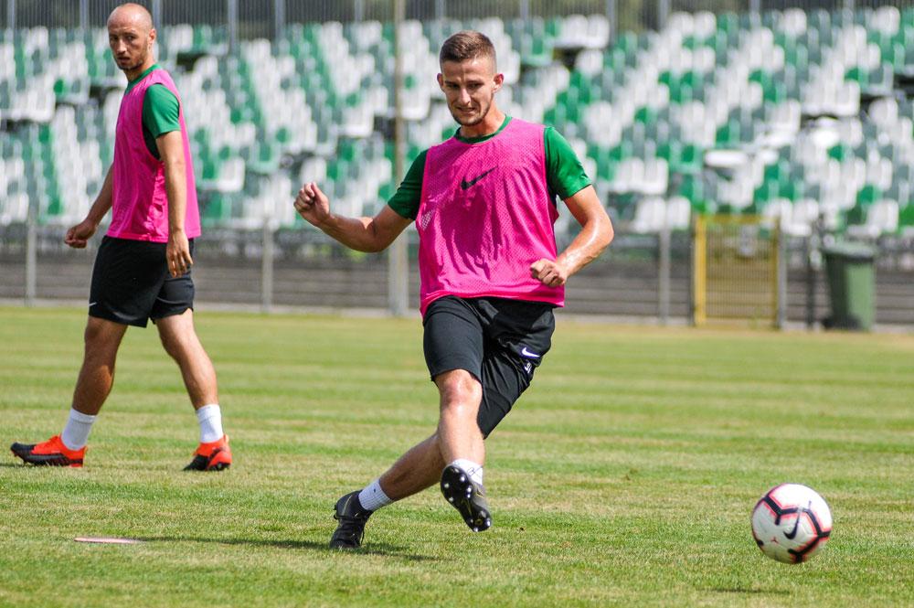 Krzysztof Kiklaisz na treningu Warty Poznań