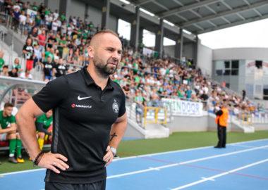 Radomiak Radom - Warta Poznań 0:2. Trener Piotr Tworek