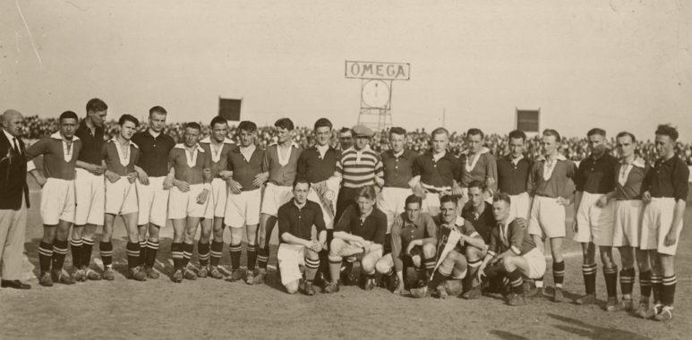Warta Poznań i Philips Eindhoven - mecz z 1929 roku