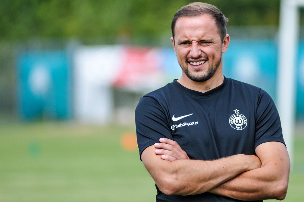 Dariusz Dudka na stażu trenerskim w Warcie Poznań