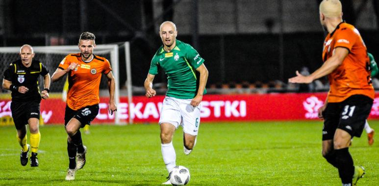 Chrobry Głogów - Warta Poznań 0:0. Łukasz Trałka