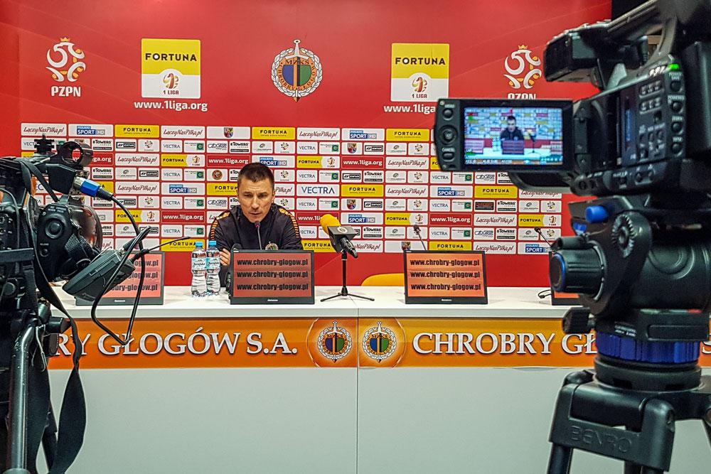 Chrobry Głogów - Warta Poznań 0:0. Trener Ivan Djurdjević