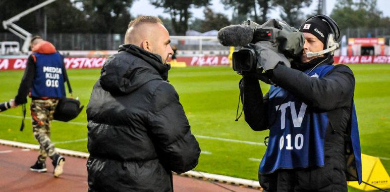 Chrobry Głogów - Warta Poznań 0:0. Trener Piotr Tworek
