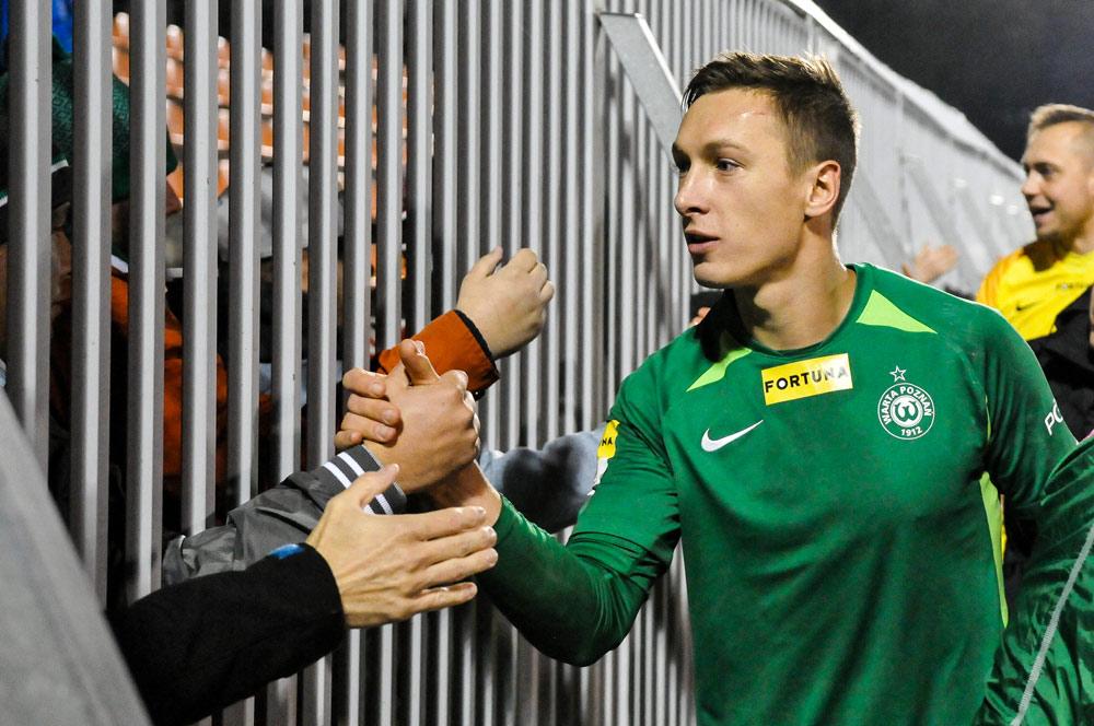Chrobry Głogów - Warta Poznań 0:0. Mateusz Kupczak