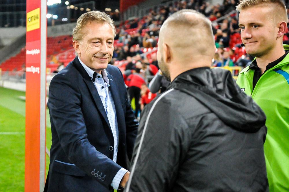 GKS Tychy - Warta Poznań 1:1. Trener GKS Ryszard Tarasiewicz