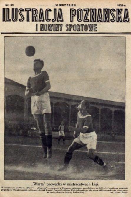 Warta Poznań - Cracovia 2:0 w 1929 roku