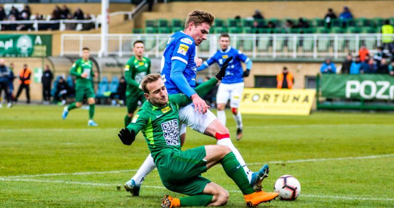 Warta Poznań - Wigry Suwałki 3:0. Robert Janicki