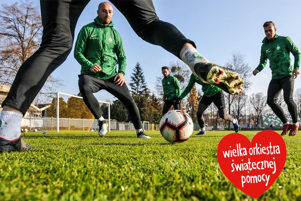 Udział w treningu Warty Poznań. Warty Poznań. Wielka Orkiestra Świątecznej Pomocy 2020