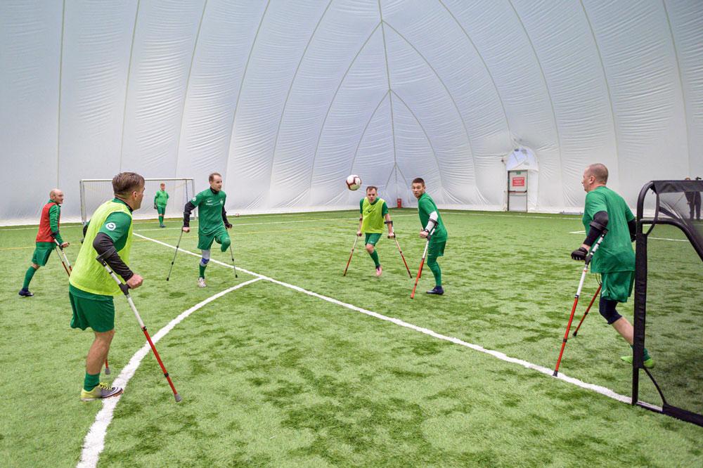 Trening zespołu amp futbolu Warty Poznań. Fot. Łukasz Woźny