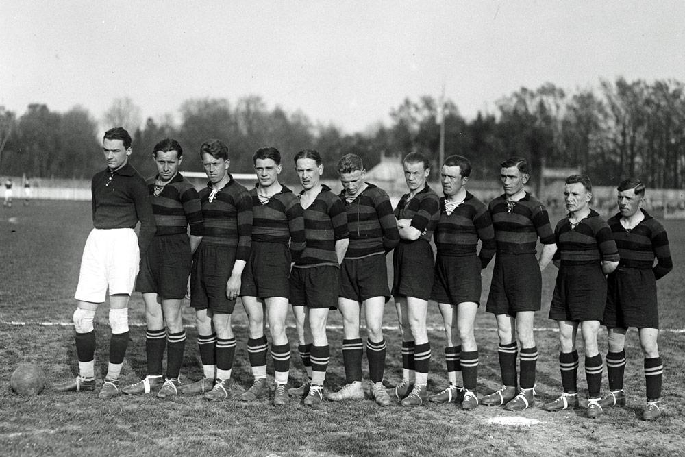 Zespół Czarnych Lwów z końca lat 20.