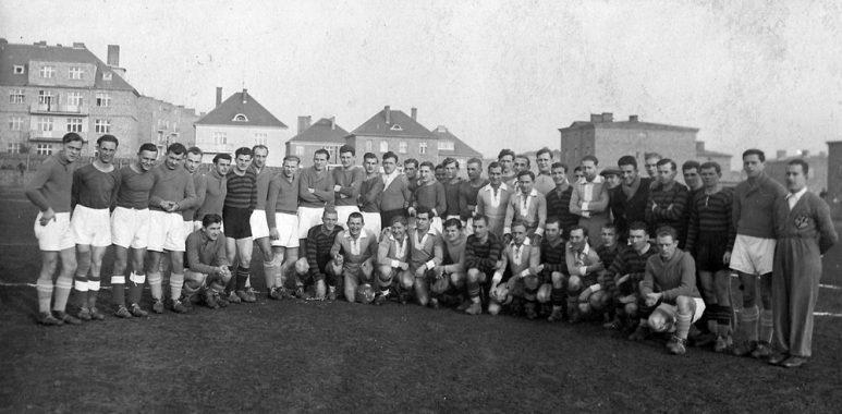 Drużyny Warty Poznań i Legii Poznań w 1931 roku