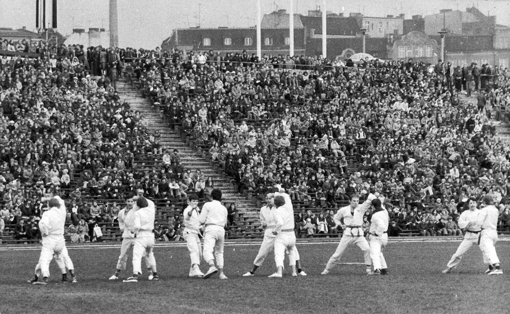 Pokazy na stadionie Warty Poznań