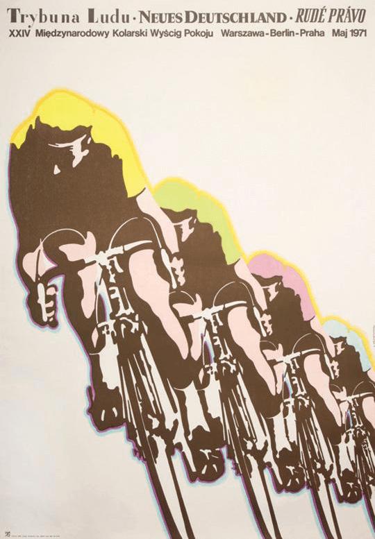 Plakat XXIV Wyścigu Pokoju z 1971 roku