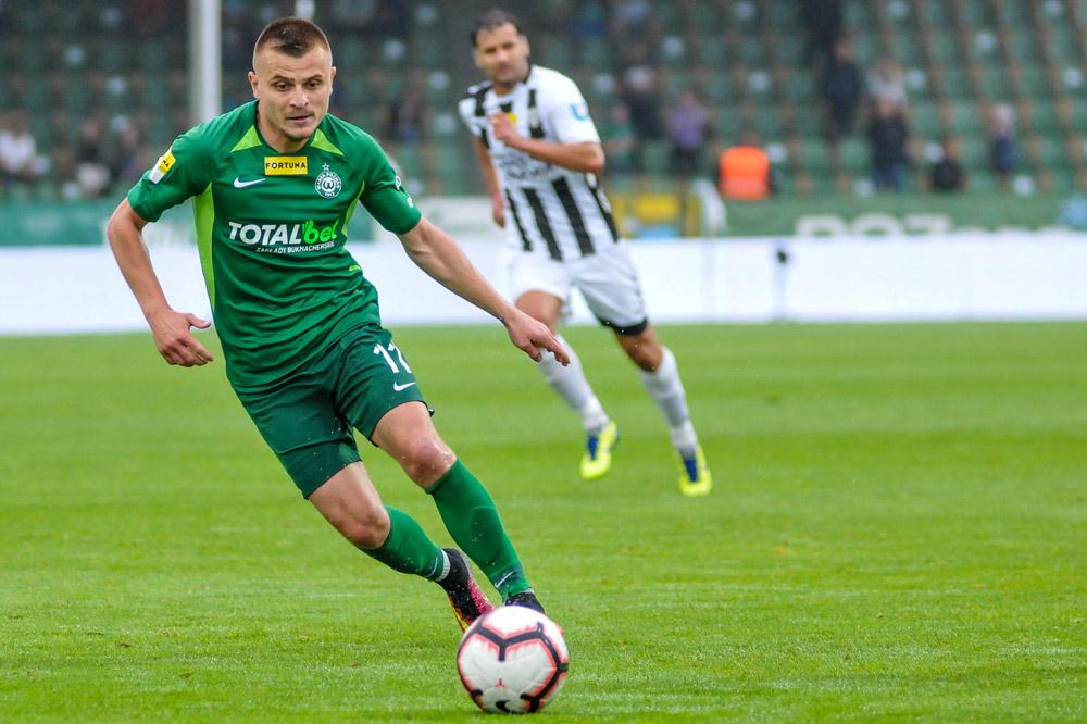 Warta Poznań - Sandecja Nowy Sącz 2:0. Michał Jakóbowski