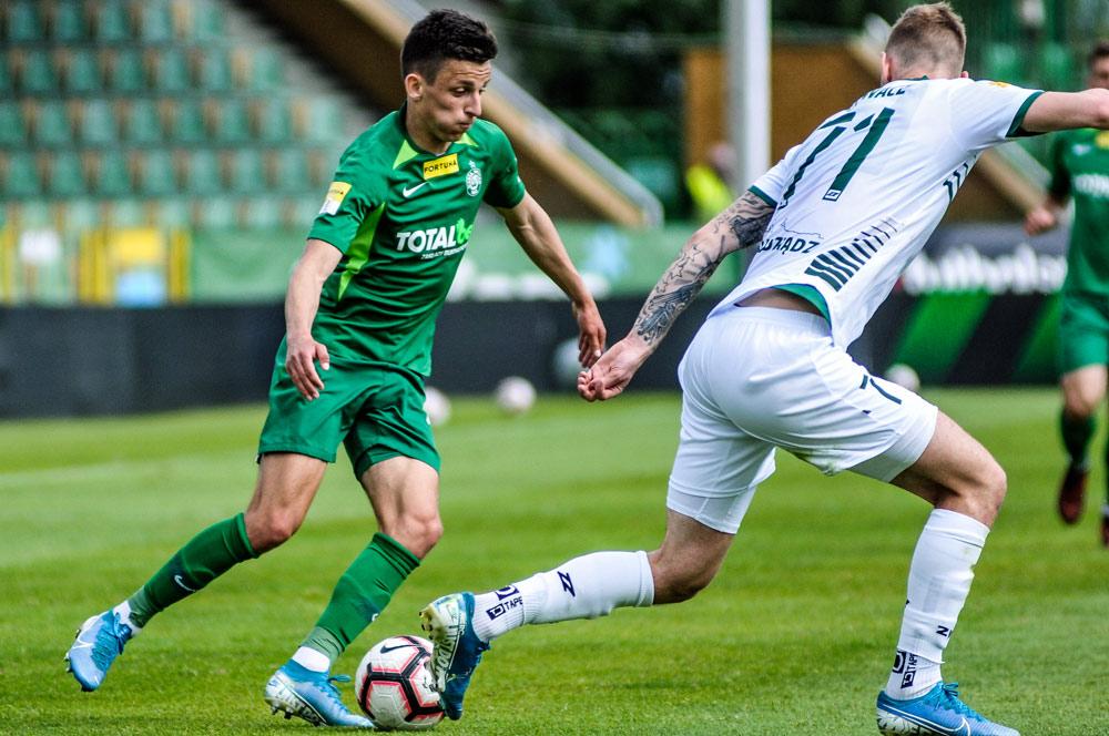 Warta Poznań - Olimpia Grudziądz 2:0. Jakub Apolinarski