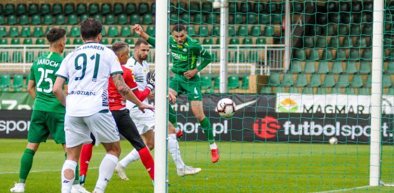 Warta Poznań - Olimpia Grudziądz 2:0. Tomasz Boczek