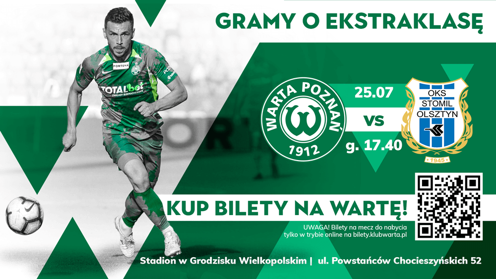 Kup bilet na mecz Warta Poznań - Stomil Olsztyn