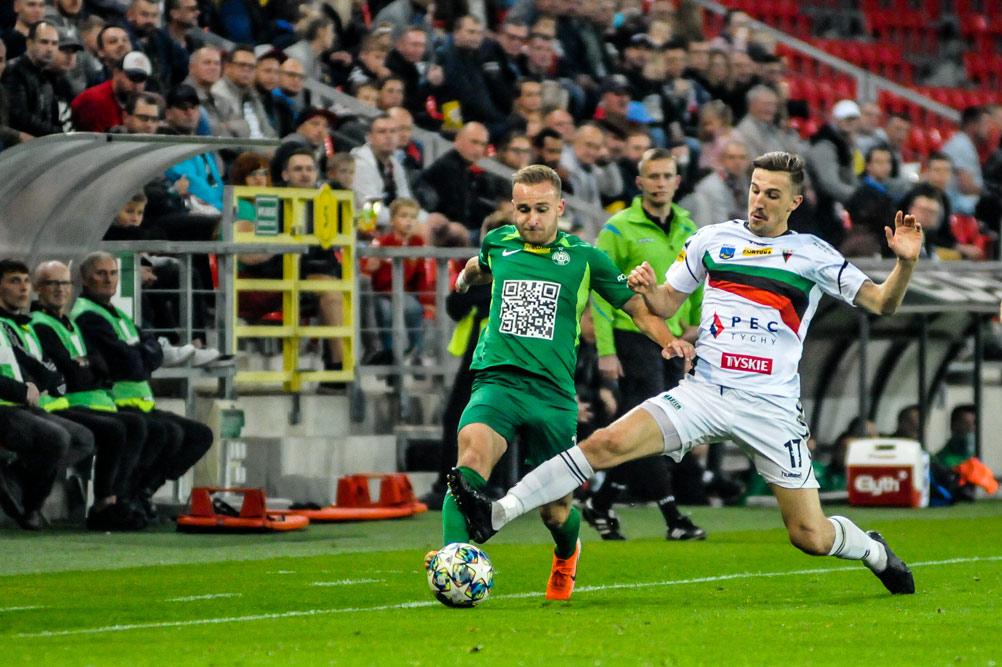 Robert Janicki (Warta Poznań) w meczu z GKS Tychy