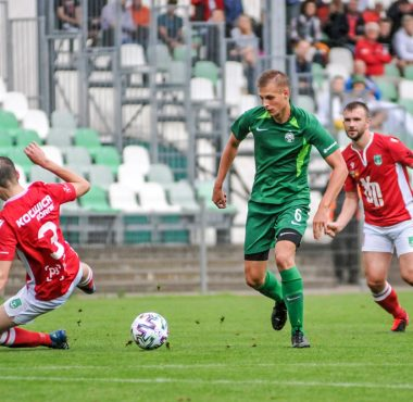 Mateusz Wojciechowski (Warta II Poznań) w meczu rezerw Warty Poznań