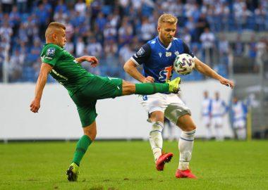 Lech Poznań - Warta Poznań 1:0. Michał Jakóbowski