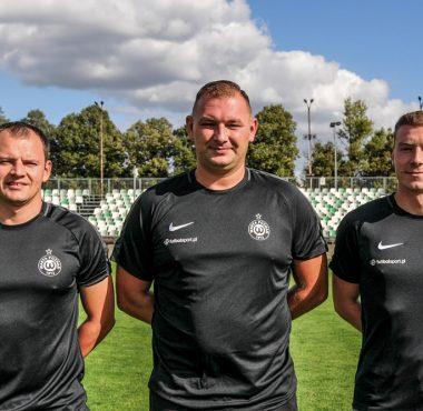 Tomasz Nowaczyk, Sebastian Przybylski i Wiktor Kopczyński - trenerzy Akademii Warty Poznań