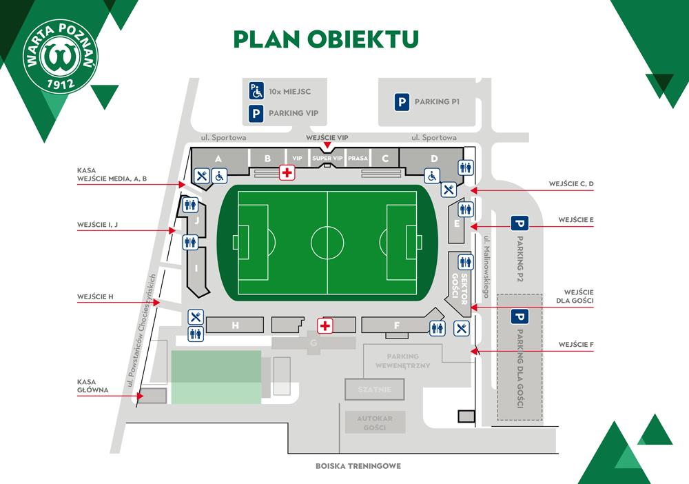 Plan stadionu w Grodzisku Wlkp. - Warta Poznań