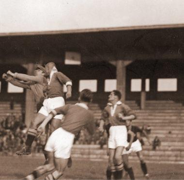 Warta Poznań - FC Milano (AC Milan) w 1934 r. fot. Narodowe Archiwum Cyfrowe