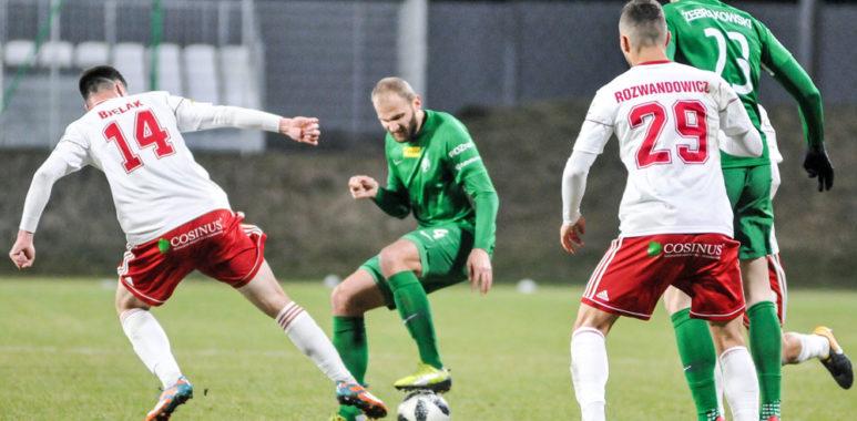 Mateusz Bodzioch (Warta Poznań) w meczu z ŁKS Łódź