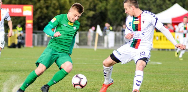 Michał Jakóbowski (Warta Poznań) w meczu z GKS Tychy