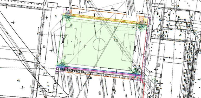 Projekt budowy jupiterów na stadionie przy Drodze Dębińskiej