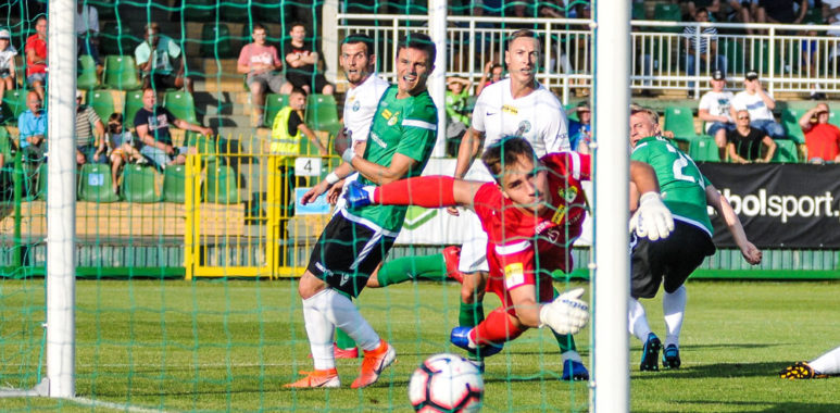 Warta Poznań - GKS Bełchatów. Gol Tomasza Boczka