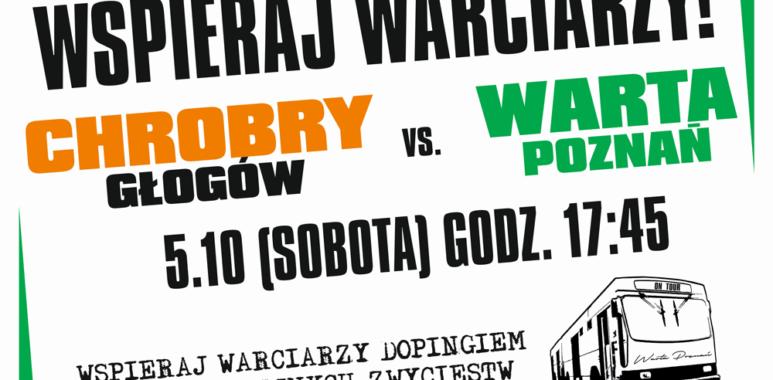 Wyjazd kibiców Warty Poznań na mecz do Głogowa