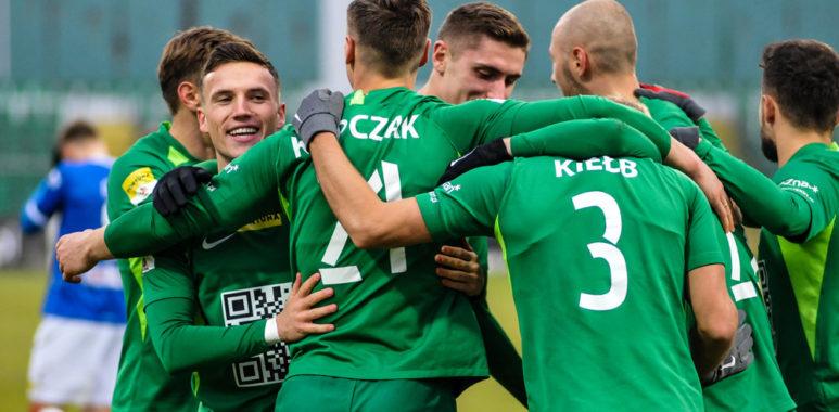 Warta Poznań - Wigry Suwałki 3:0. Gracjan Jaroch