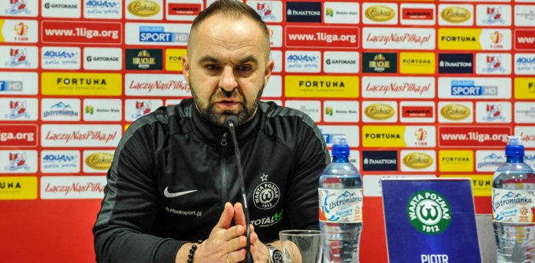 Podbeskidzie Bielsko-Biała - Warta Poznań 2:0. Trener Piotr Tworek
