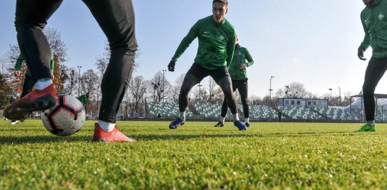Trening Warty Poznań. Mateusz Kupczak, Mariusz Rybicki