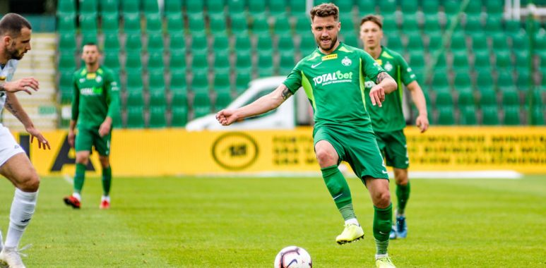 Warta Poznań - Olimpia Grudziądz 2:0. Mateusz Szczepaniak