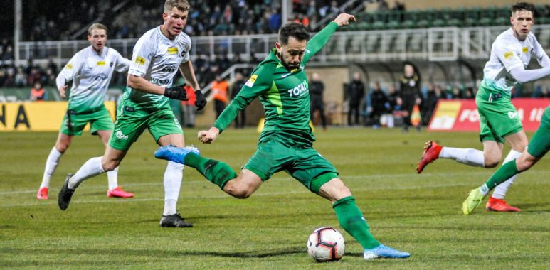 Mariusz Rybicki w meczu Warta Poznań - Radomiak Radom (3:0)