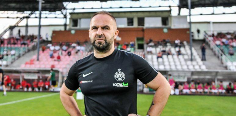 Zagłębie Sosnowiec - Warta Poznań 0:2. Trener Piotr Tworek