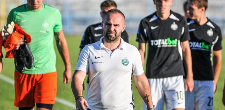 Błękitni Stargard - Warta Poznań 3:3, k. 4:5 w Pucharze Polski. Trener Piotr Tworek
